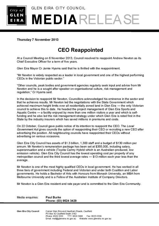 071113_Reappointment_of_CEO