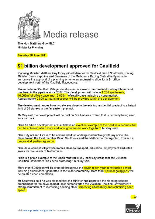 110628_Guy_-_1_billion_development_approved_for_Caulfield_Page_1